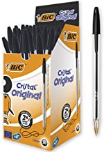 BIC Cristal Original Ballpoint Pens Medium Point (1.0 mm) – Black, Box of 50