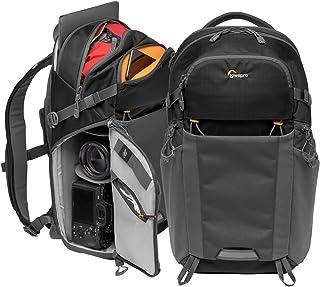 Lowepro LP37260-PWW Photo Active Mochila para cámara exterior sin espejo con divisores QuickShelf Tablet 12/iPad/Hidr. 2L Sony Canon Nikon Objetivos Gimbal Dron DJI Negro/Gris