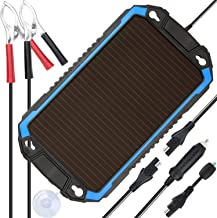 SUNER POWER 12V Solar Car Battery Charger & Maintainer - Portable 2.4W Solar Panel Trickle Charging Kit for Automotive, Motorcycle, Boat, Marine, RV, Trailer, Powersports, Snowmobile, etc.
