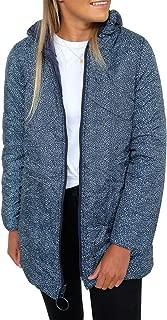 KIRUNDO 2019 Winter Women's Lightweight Jacket Water-Resistant Puffer Coat Zipped Up Leopard Outwear with Pockets