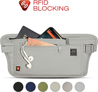 Lewis N. Clark RFID-Blocking Hidden Money Belt Waist Pack, Gray, One Size