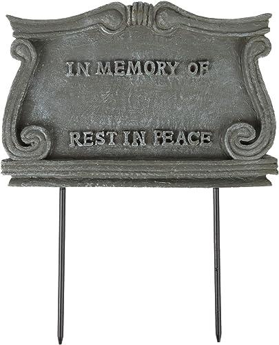 2021 Trenton Gifts Pet Monument outlet sale Plaque   Stone-Look Weather discount Resistant Marker sale