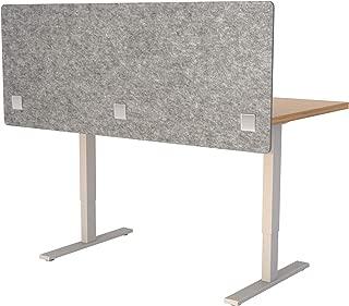 "VaRoom Acoustic Partition, Sound Absorbing Desk Divider – 60"" W x 24""H Privacy Desk Mounted Cubicle Panel, Ash Grey"
