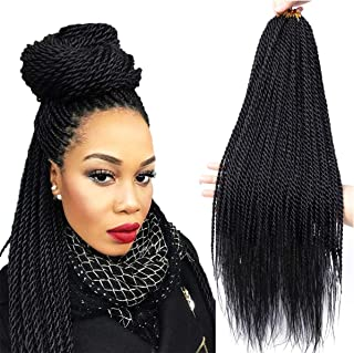 Senegalese Twist Crochet Hair 4 Colors Avaliable for Women Low Temperature Fiber Synthetic Senegalese Twist Hair Extension...