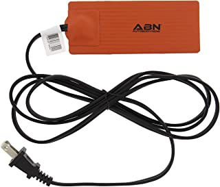 ABN Automotive Electric Silicone Heating Pad, 2in x 5in 120V 50W – Waterproof High Heat Transfer Car Heated Wrap Mat