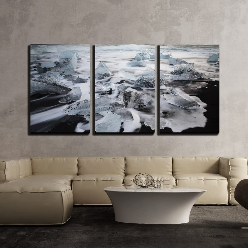 wall26 - Large discharge sale 3 Piece Canvas Wall Sea The Art Ranking TOP4 Floating on Iceberg
