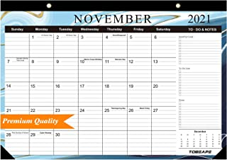 Tobeape 2020-2022 Desk Calendar, Large Monthly Pages 17 x 12 inches Wall Calendar Daily Planner, Hanging 3-Year Runs from ...
