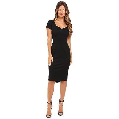 Zac Posen Bondage Jersey Cap Sleeve Dress (Black) Women
