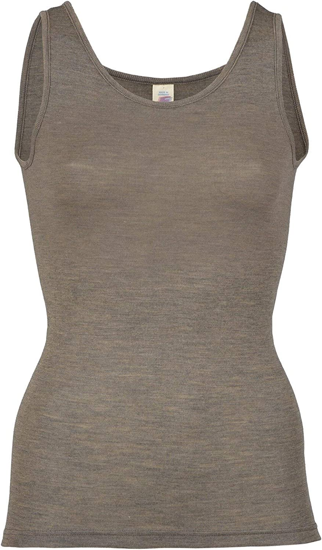Lightweight Moisture Wicking Merino Wool Silk Sleeveless Undershirt Womens Thermal Base Layer Top