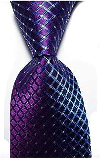 ربطة عنق مخططة للرجال من Veegood كلاسيكية منسوجة من الحرير من نسيج جاكارد للرجال