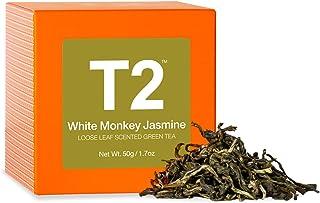 T2 Tea White Monkey Jasmine Green Tea, Loose Leaf Green Tea in Gift Cube, 50 g