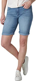 "Riders by Lee Indigo Women's Rolled Cuff Midrise Denim Bermuda Short with 10"" Inseam"