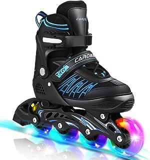 Caroma Inline Skates Women with 8 Lights Up Wheels LED Outdoor 4 Size قابل تنظیم اسکیت غلتکی قابل تنظیم برای کودکان و کودکان زن