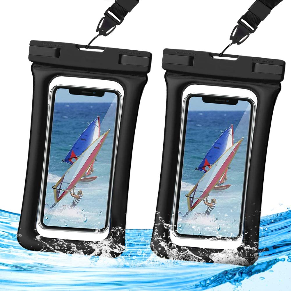 Waterproof Phone Pouch Floating,Universal Waterproof Case,Homearda TPU Clear Dry Bag IPX8,2 Pack Compatible for iPhone Xs Max/Xr/X/8/8plus/7/7plus6/6s Galaxy Note Google Pixel up to 6.5
