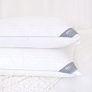 Epitex Exceed Down Hotel Collection Luxury Down Alternative Pillow, 100% Breathable Cotton, Hypoallergenic, Dust Mite Resi...