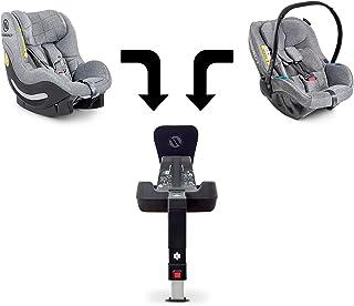 Avionaut Trio | set modular de 3 piezas | Silla infantil para coche Pixel (0-13kg, 40cm-86cm), silla infantil línea AeroFIX Soft (9kg-17.5kg, 67cm-105cm), Base IQ (base ISOFIX) | Gris