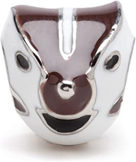 Stone Armory Wisconsin Badger Mascot Bead Charm - Stainless Steel - Fits Pandora