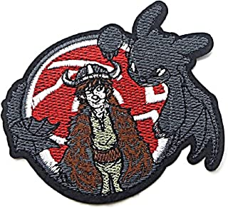 "How to Train Your Dragon Toothless Night Fury 3 1//2/"" Tall Embroidered Patch"