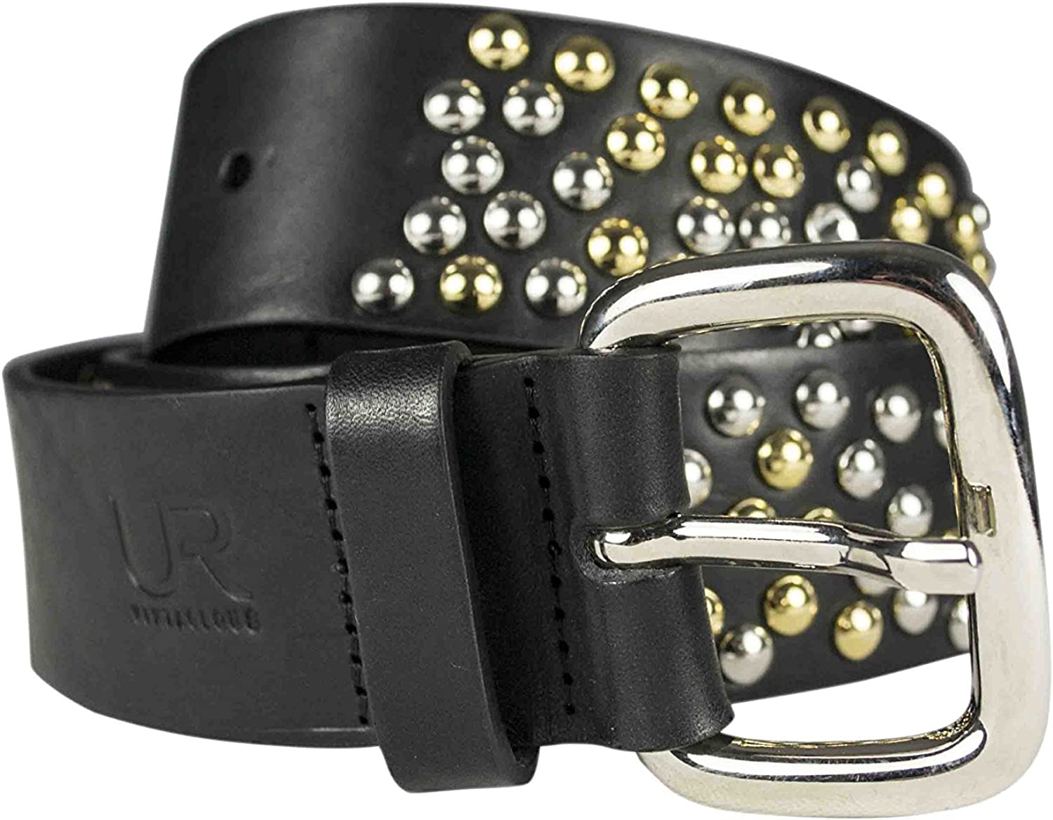 CARISBA Studded leather belt with Swarovsky elements
