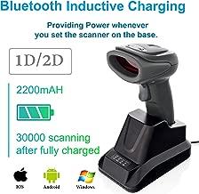 LS-PRO 2D QR wireless Bluetooth Barcode Scanner with USB Cradle Receiver Charging Base handheld 1D/2D Data matrix PDF417 image reader 100 ft Transmission Range long-life Battery 2200mA,1 Year Warranty