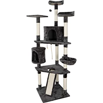 ZENY 79in Cat Trees with Sisal Scratching Posts Perches and Condo, Multi-Level Cat Tower Furniture Kitty Activity Center Kitten Play House
