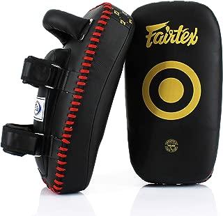 Fairtex KPLC5 Muay Thai Kickboxing Lightweight Thai Pads - Black, Black/Gold