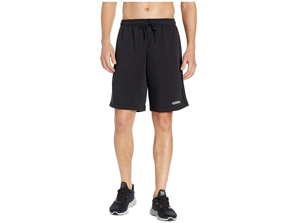 adidas Essentials 3-Stripes Fleece Shorts (Black) Men's Shorts