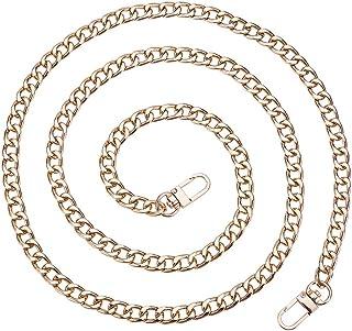 PH PandaHall Women's 2 Pcs Iron Flat Chain Strap Handbag Chains Accessories Purse Straps Shoulder Cross Body Replacement S...