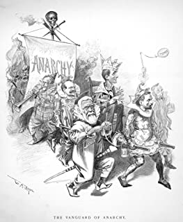 Pullman Strike Cartoon NThe Vanguard Of Anarchy Cartoon By WA Rogers July 1894 Potraying Eugene V Debs Governor Atlgeld Of...