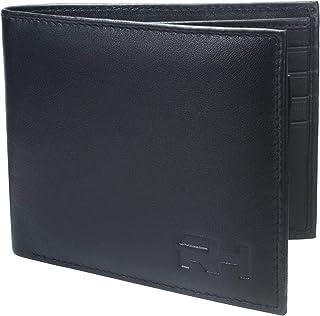 Rigohill Bifold Wallet for Men, Leather - Black