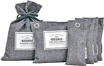 Roshie Bamboo Charcoal Air Purifying Bag - 6 Pack   Odor Absorber for Home, Cars, Smoke   Diaper Genie Deodorizer   Pet Odor Eliminator