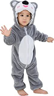Jelord Mameluco Pelele Pijama Invierno para Niños Niñas Bebé Traje de Animales Ropa Bebé Cómodo Linda Primavera Otoño de F...