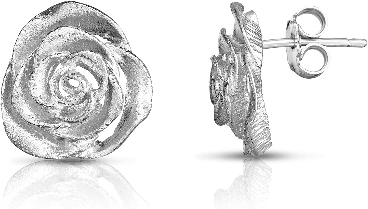 wholesale Silver with Rhodium Finish Sparkle Push Back Clasp Ultra-Cheap Deals Earring