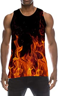 72c5d469e73b9e TUONROAD Mens 3D Graphic Printed Tank Top Cool Muscle Sleeveless Tees Gym  Workout Shirt