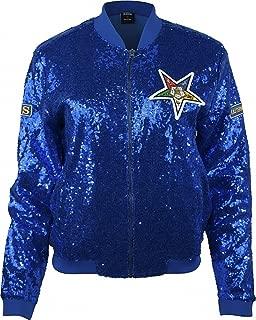Big Boy Eastern Star Divine Ladies Sequins Jacket [Royal Blue - 2XL]