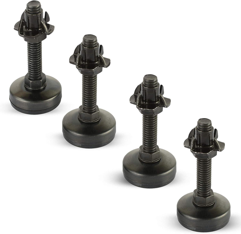 Black Furniture Leveler Kit Ultra-Cheap Cheap mail order specialty store Deals Zinc 4 Prong Tnut 4-3 Set of