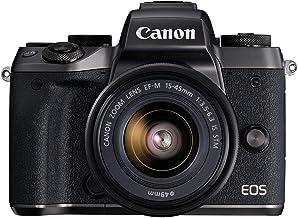 Canon EOS M5 Mirrorless Camera Kit 15-45mm Lens Kit - Wi-Fi Enabled & Bluetooth (Renewed)