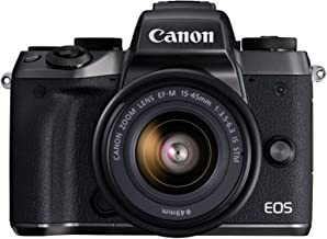 Canon EOS M5 Mirrorless Camera Kit 15-45mm Lens Kit - Wi-Fi Enabled & Bluetooth (Certified Refurbished)