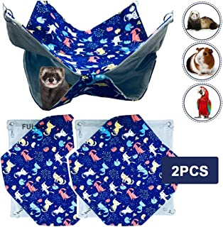 FULUE Small Animal Ferret Rat Mice Mouse Cavy Guinea Pig Degu Gerbil Hamster Chincilla Hammock Sleeper Hanging Bed Cage Accessories 13.8inch