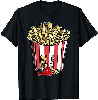 Pommes - lustiges Pommes mit Ketchup Drama Pommestüte Fun T-Shirt