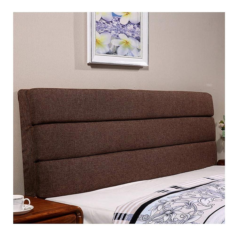 復活する独特の中世のヘッドボード用クッション 寝室 ダブル 大 ソフトバッグ コットンとリネン ベッドサイドクッション枕背もたれパッド ベッドカバー 3色、9サイズ (Color : A, Size : 180x60x5cm)