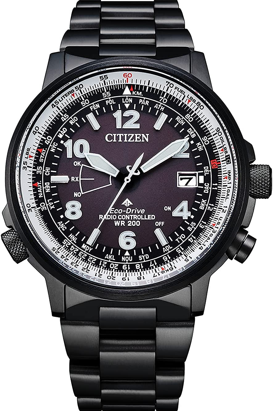Citizen Eco-Drive CB0245-84E - Reloj controlado por radio para hombre, color negro