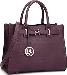 Dasein Women Satchel Handbags and Belted Purses Top-handle Tote Bags with Tassel