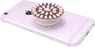 Collapsible Grip & Smart Phone Accessory for Cell Phone Self Adhesive Charm Western Concho No.16W