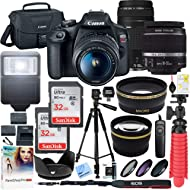 Canon T7 EOS Rebel DSLR Camera with EF-S 18-55mm f/3.5-5.6 is II and EF 75-300mm f/4-5.6 III Lens...