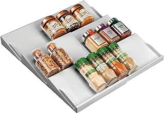 mDesign support à épices pour tiroir – range épice extensible de 20 cm jusqu'à 36,8 cm – présentoir à épice pour tiroir à ...