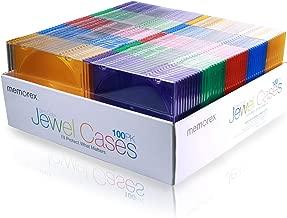 Memorex Slim Jewel Cases - Pack of 100 - Multi Color