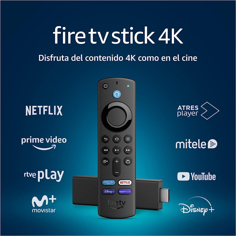 Fire TV Stick 4K con mando por voz Alexa (incluye controles para el televisor) por 39,99€ ¡¡33% de descuento!!