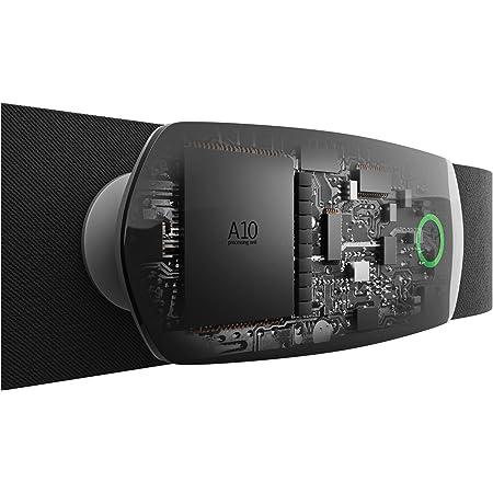 ATLETICA A10 | Pulsómetro | La única banda pectoral con batería recargable y estación de carga | Indicación LED de la zona de pulso | Compatible con Apple Samsung Huawei Xiaomi Garmin