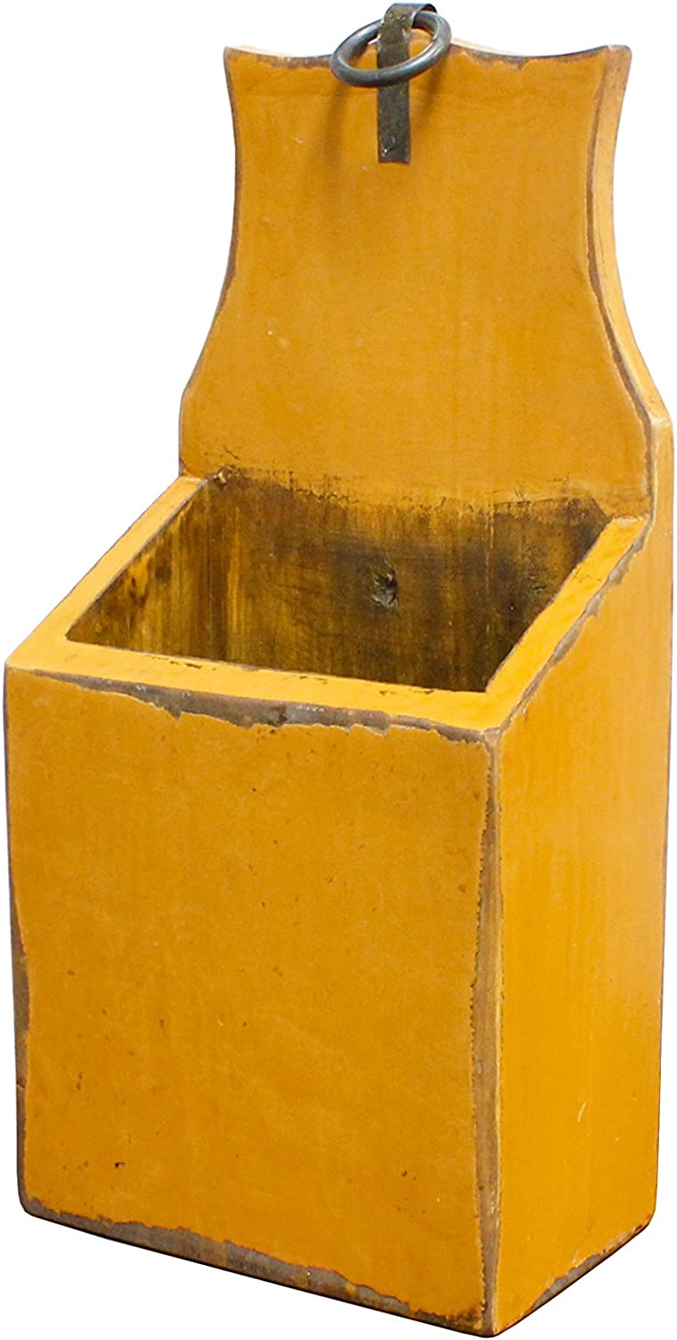 Antique Revival Wooden Yellow Popularity Holder store Mail